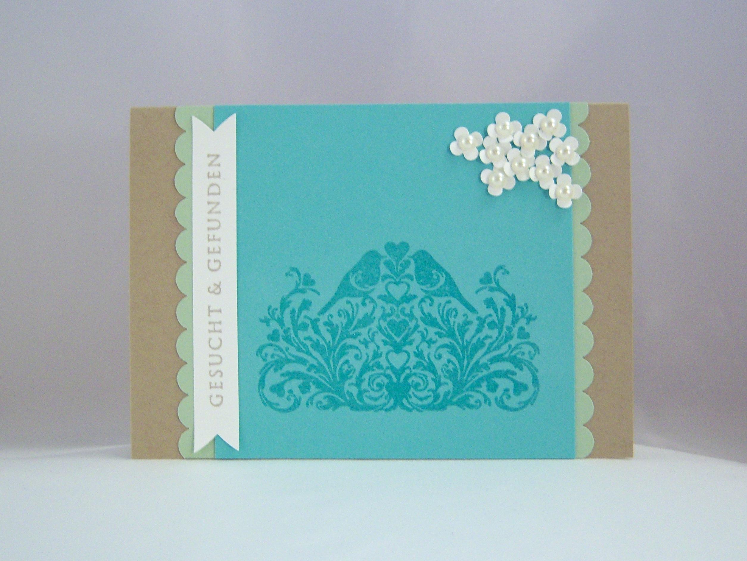 Hochzeit - Karte zur Hochzeit Gesucht & Gefunden Voegel