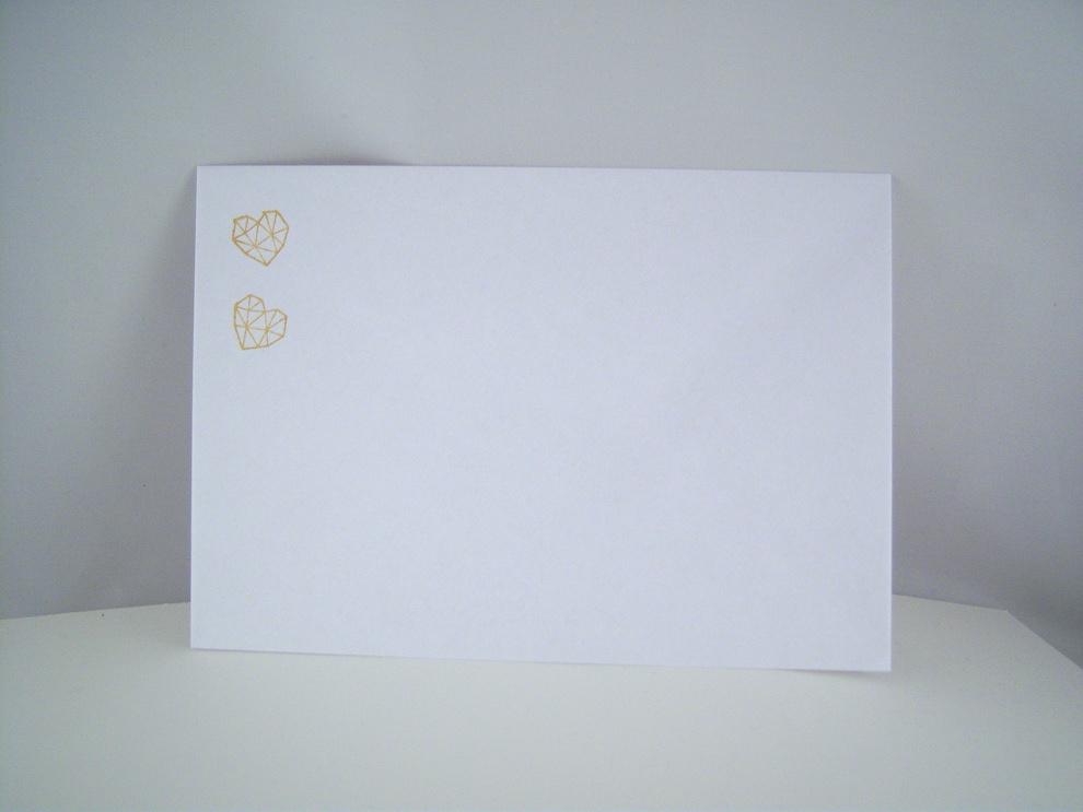 Hochzeitskarte -grafisches Herz- rosa Bild 3