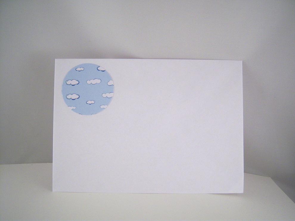 Karte zur Geburt -Baby mit Regenschirm- Bild 3