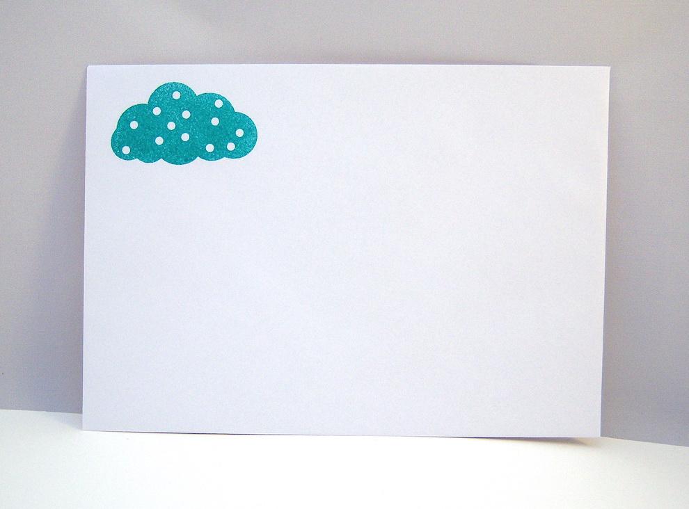 Babykarte Regenbogen blau Bild 3