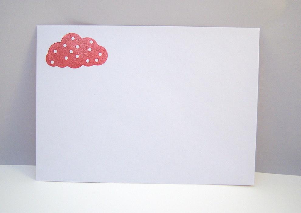 Babykarte Regenbogen rosa Bild 3