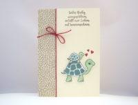 Babykarte Schildkröte Bild 1