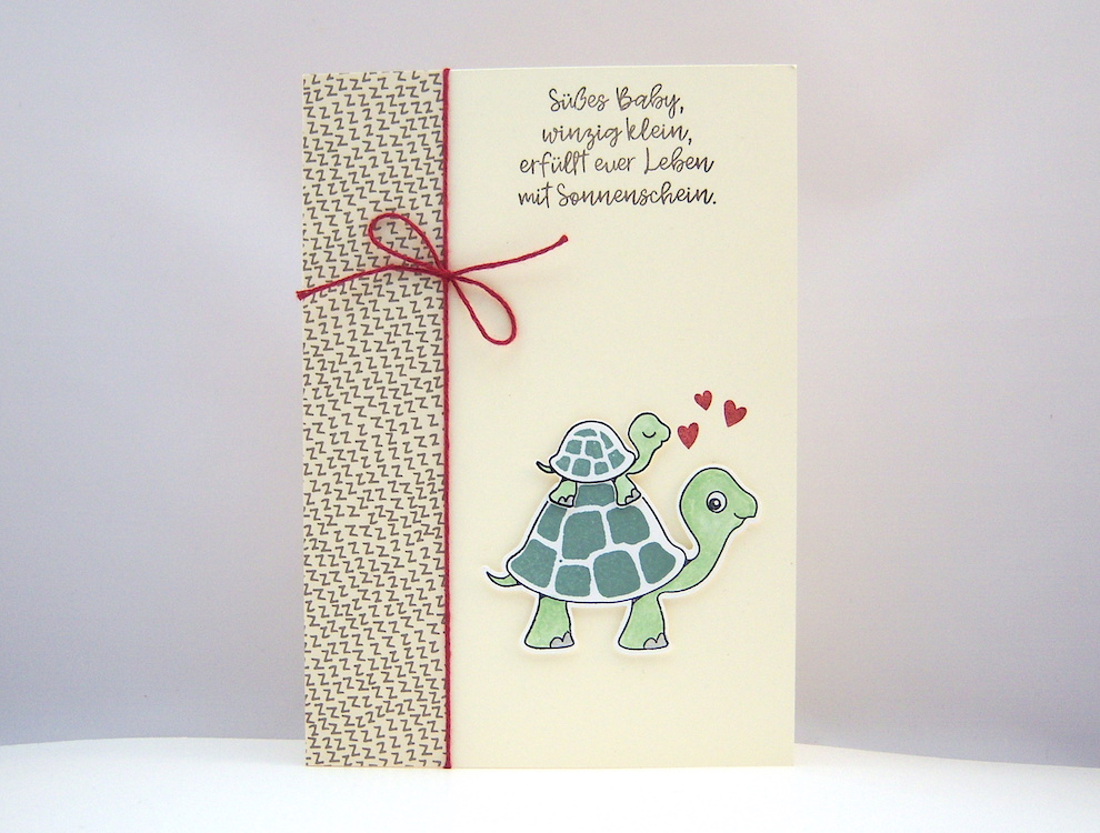 Geburt / Taufe - Babykarte Schildkröte Bild 1