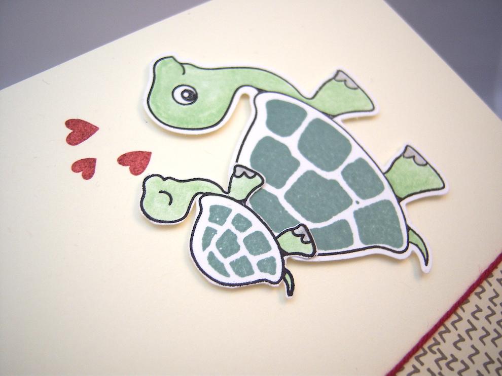 Babykarte Schildkröte Bild 2