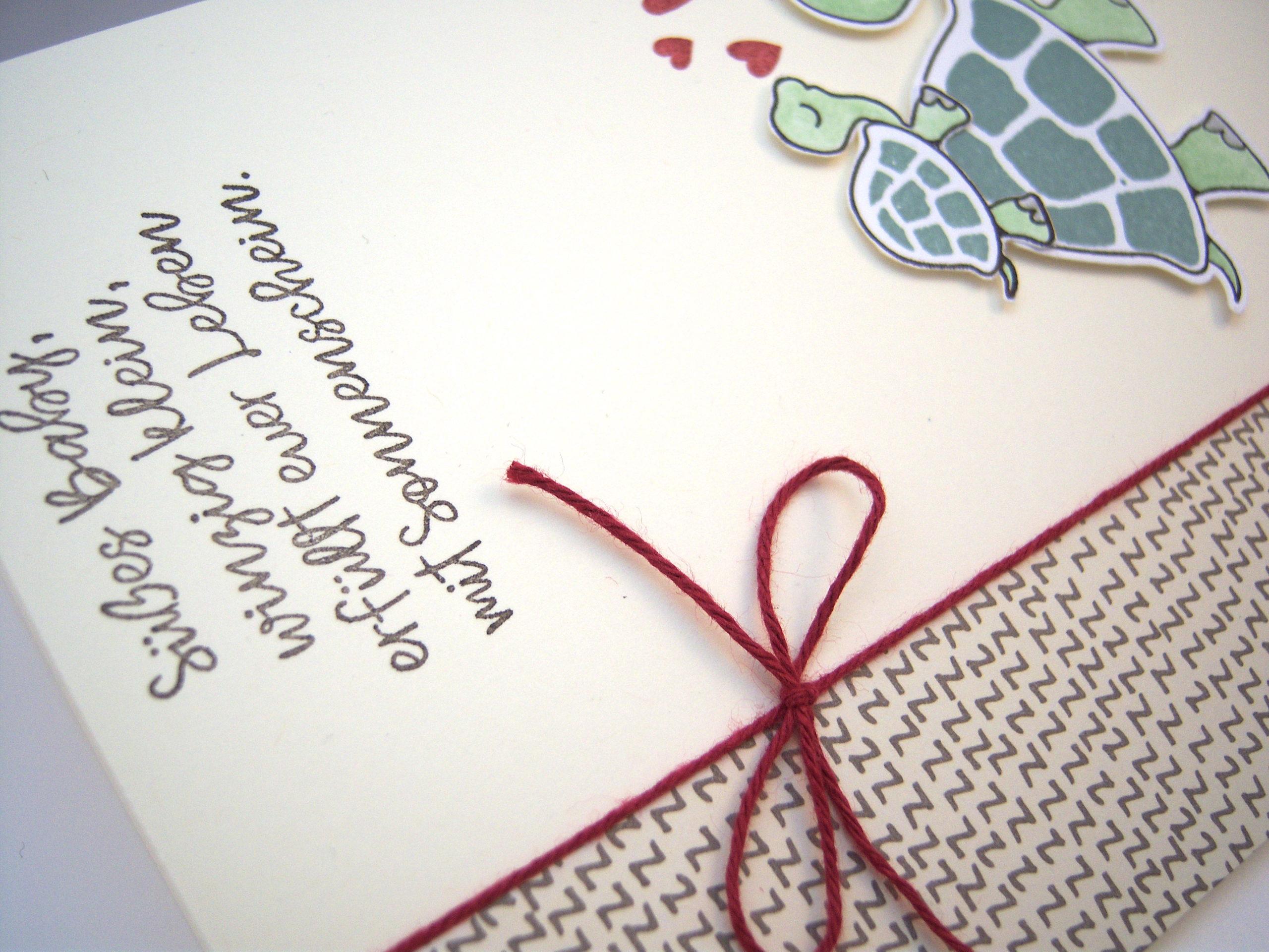 Babykarte Schildkröte Bild 3