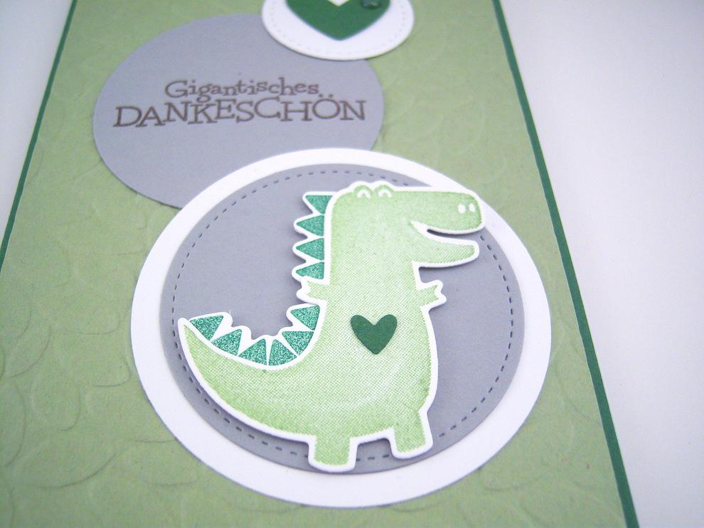 Dankeskarte Dino Bild 2