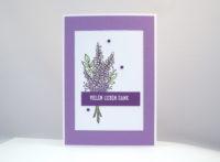 Dankeskarte Lavendel Bild 1
