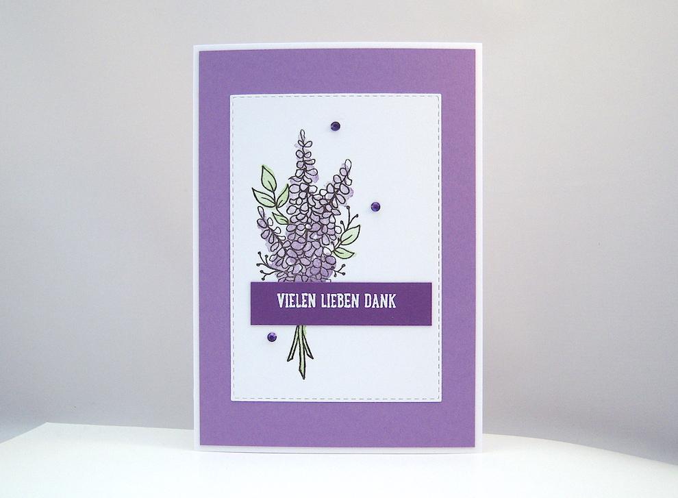 Sonstiges - Dankeskarte Lavendel Bild 1