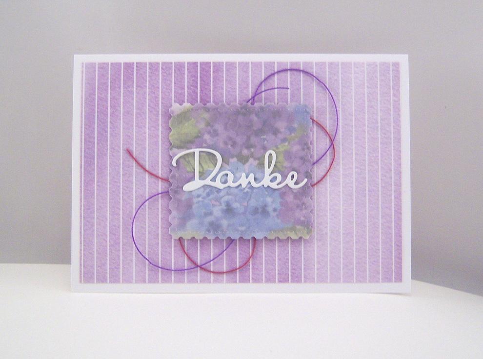 Sonstiges - Dankeskarte lila Bild 1