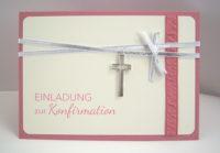 Einladung Konfirmation -Kreuzanhänger-