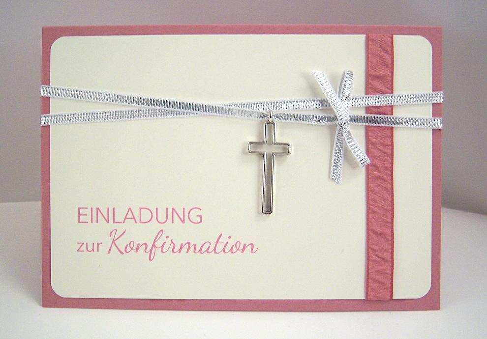 Einladung, Konfirmation - Einladung Konfirmation -Kreuzanhänger-