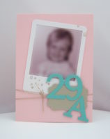 Einladungskarte 30. Geburtstag Zartrosa Jade Bild 1
