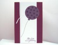 Geburtstagskarte -Ballon mit Punkten- Bild 1