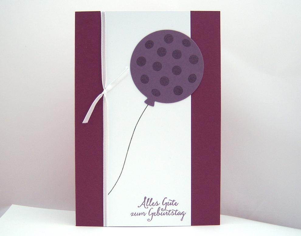 Geburtstag - Geburtstagskarte -Ballon mit Punkten- Bild 1
