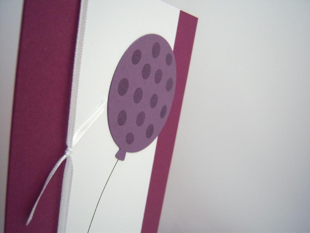 Geburtstagskarte -Ballon mit Punkten- Bild 2