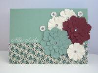 Geburtstagskarte -Blumen- Bild 1