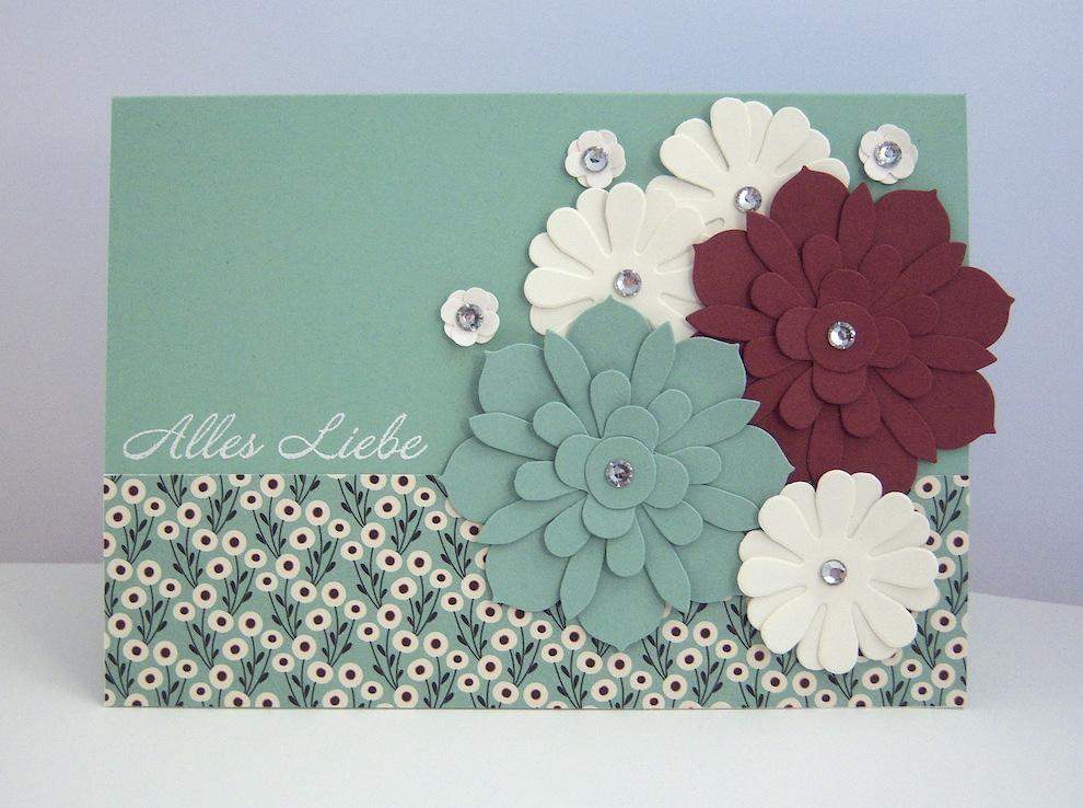 Geburtstag - Geburtstagskarte -Blumen- Bild 1