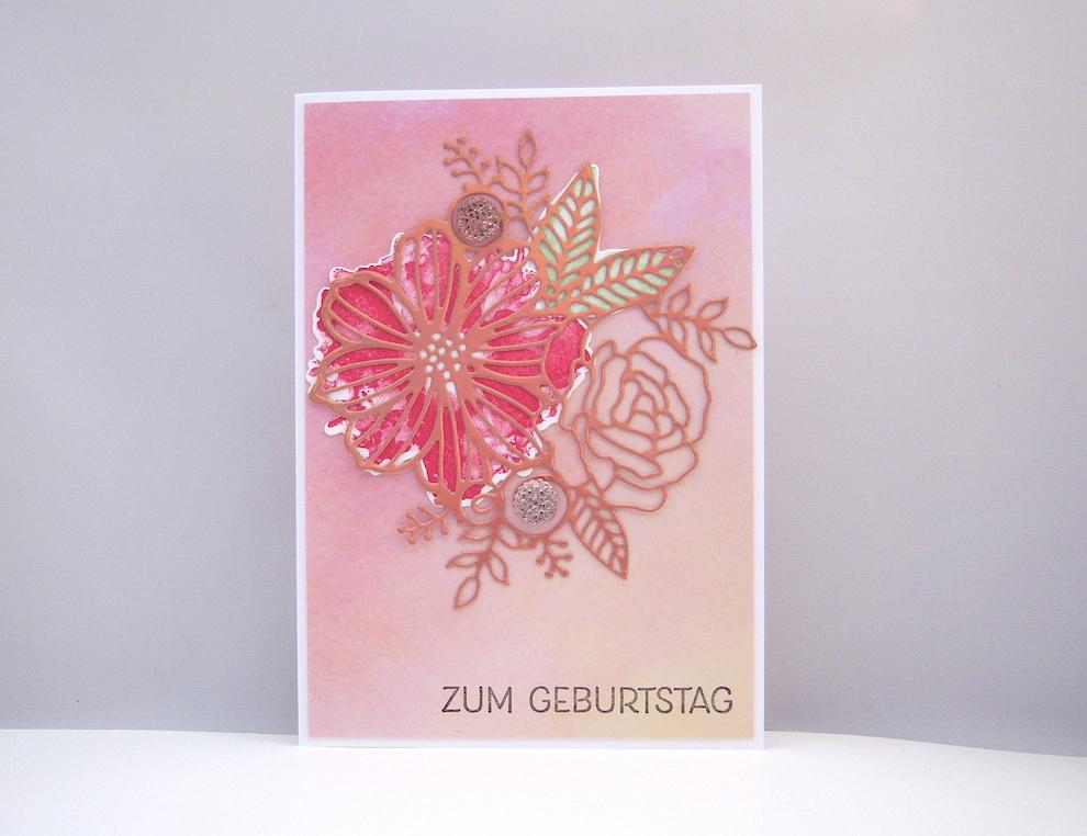 Geburtstag - Geburtstagskarte Blumen