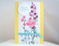 Geburtstagskarte Blumen Bild 1