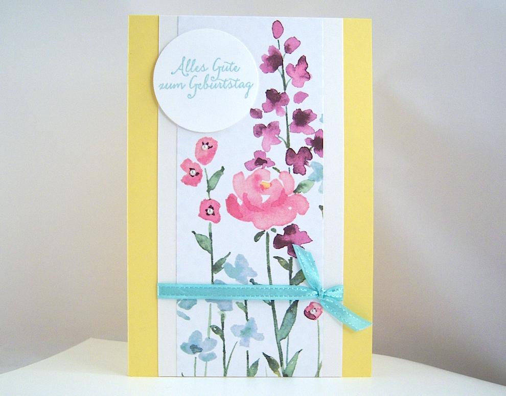 Geburtstag - Geburtstagskarte Blumen Bild 1