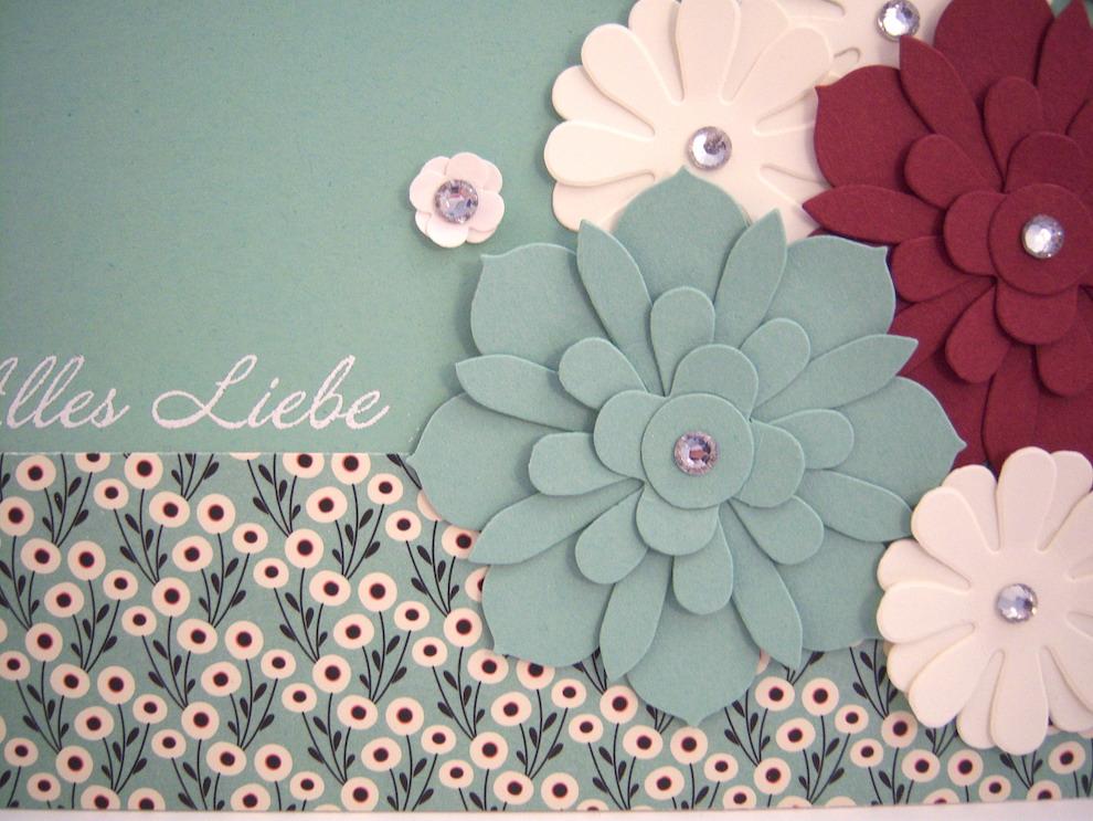 Geburtstagskarte -Blumen- Bild 2