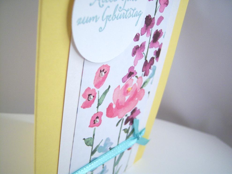 Geburtstagskarte Blumen Bild 2