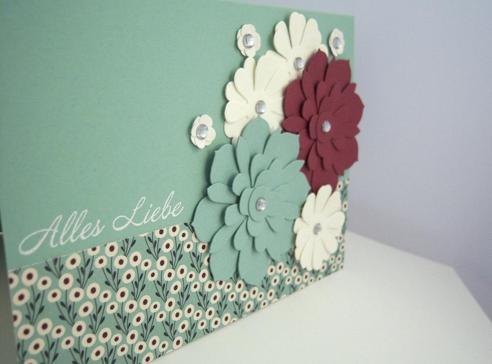 Geburtstagskarte -Blumen- Bild 3
