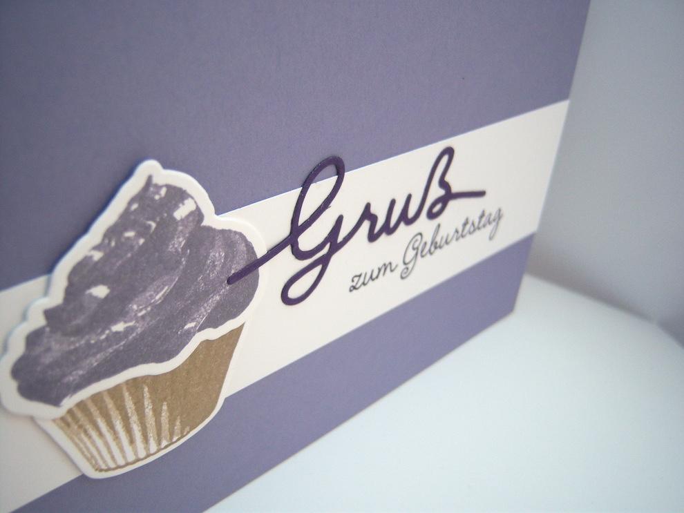 Geburtstagskarte -Cupcake Gruß- Bild 2