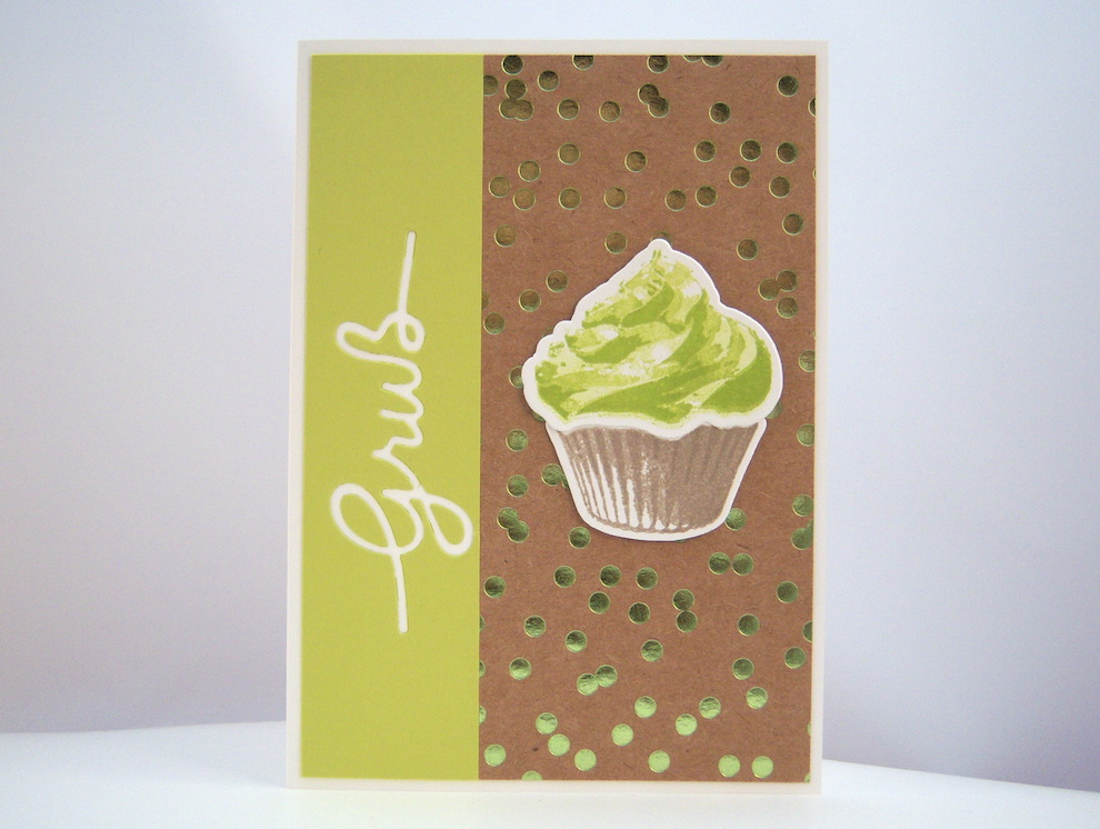 Geburtstagskarte Cupcake Limette Bild 1
