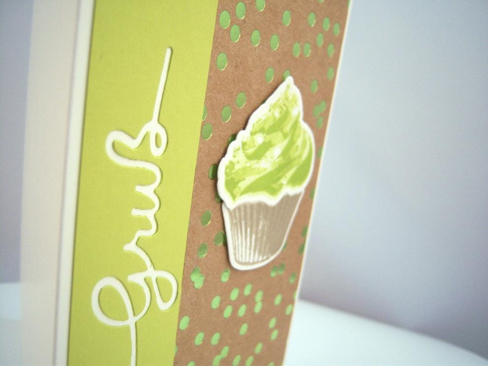 Geburtstagskarte Cupcake Limette Bild 2