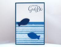 Geburtstagskarte Holzfische Bild 1