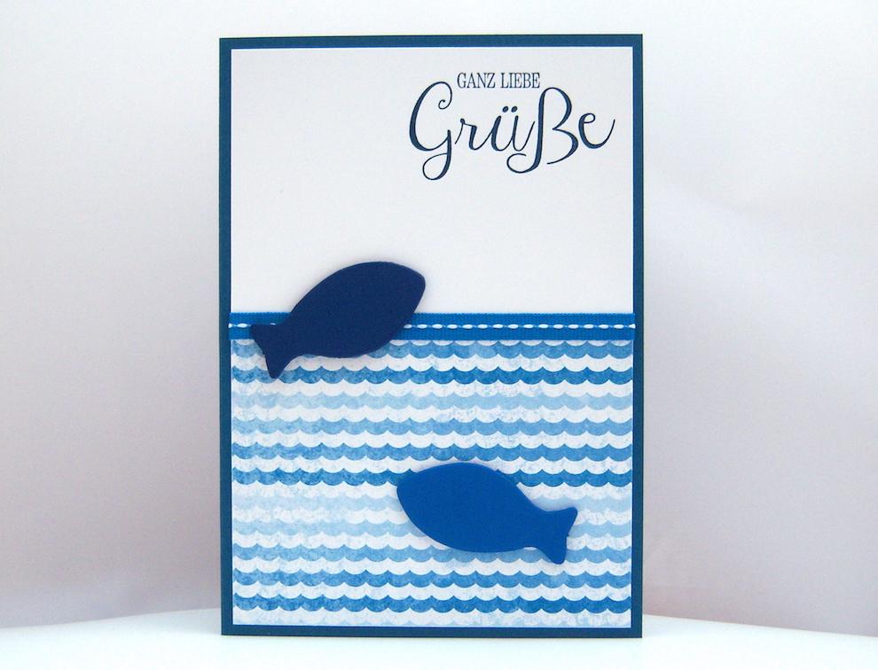 Geburtstag - Geburtstagskarte Holzfische Bild 1