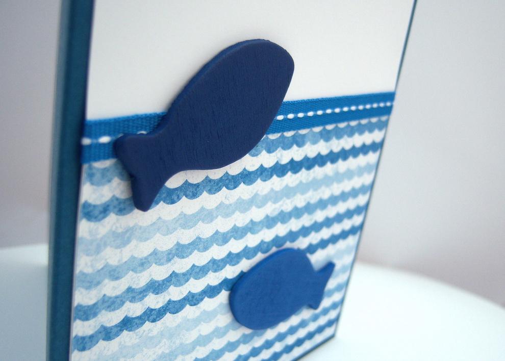 Geburtstagskarte Holzfische Bild 2