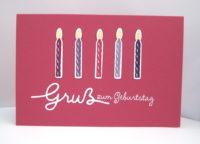 Geburtstagskarte -Kerzen-