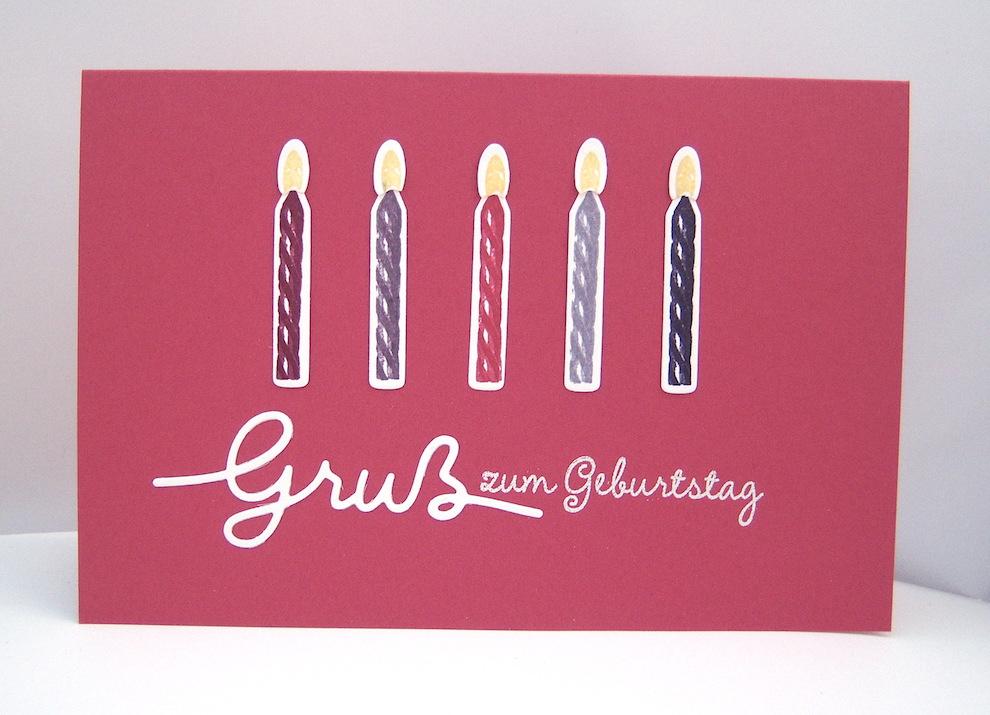 Geburtstag - Geburtstagskarte -Kerzen-