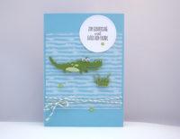 Geburtstagskarte Krokodil Bild 1