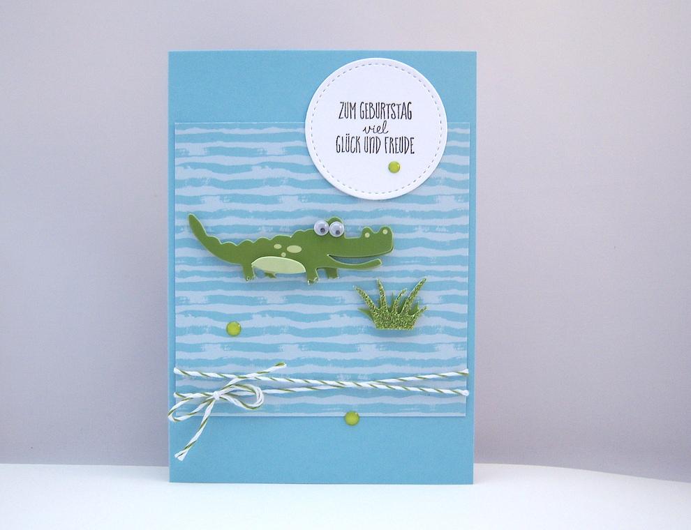 Geburtstag - Geburtstagskarte Krokodil Bild 1