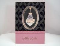Geburtstagskarte Kronleuchter