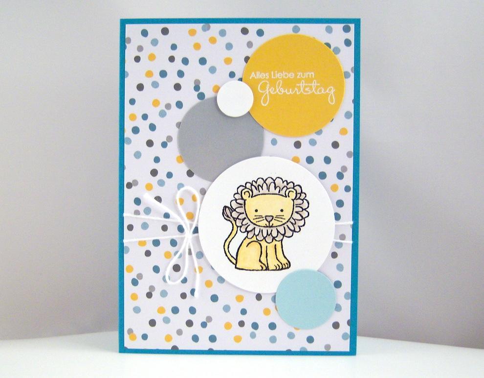 Geburtstag - Geburtstagskarte -Löwe- Bild 1