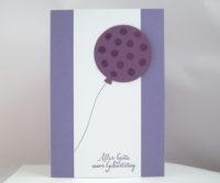Geburtstagskarte -Luftballon mit Punkten- Bild 1