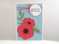 Geburtstagskarte -Mohnblüte- Bild 1