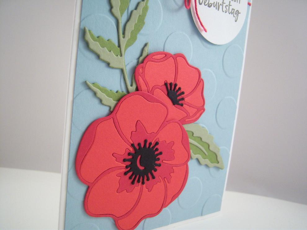 Geburtstagskarte -Mohnblüte- Bild 2