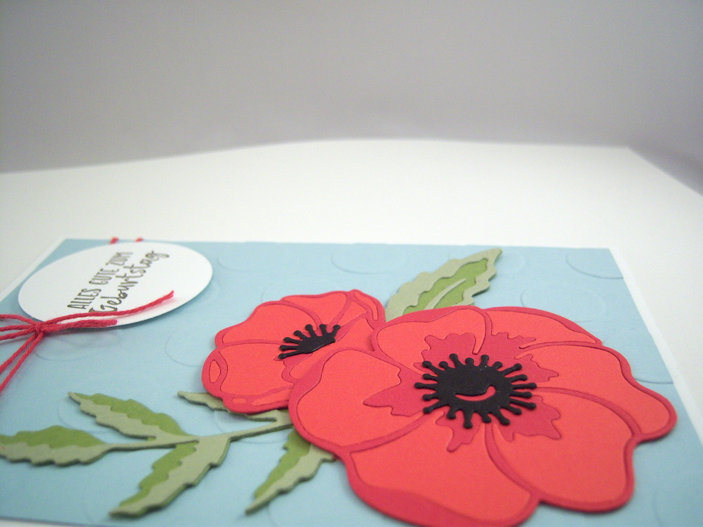 Geburtstagskarte -Mohnblüte- Bild 3