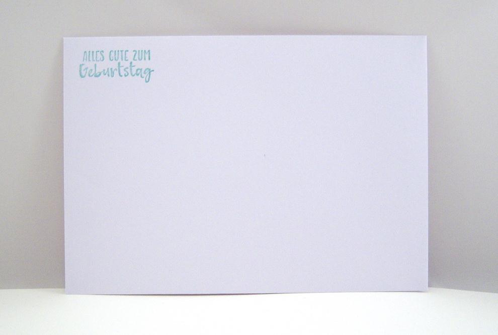 Geburtstagskarte -Mohnblüte- Bild 4