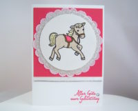 Geburtstagskarte Pferdchen Bild 1