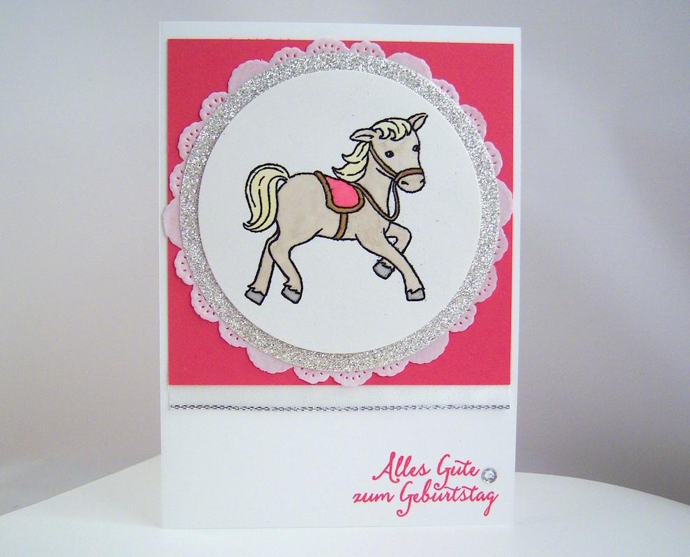 Geburtstag - Geburtstagskarte Pferdchen Bild 1