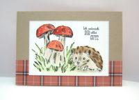 Geburtstagskarte -Pilze Igel- Bild 1