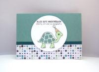 Geburtstagskarte Schildkröte Bild 1