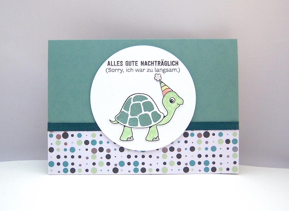 Geburtstag - Geburtstagskarte Schildkröte Bild 1