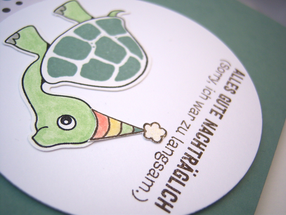 Geburtstagskarte Schildkröte Bild 4
